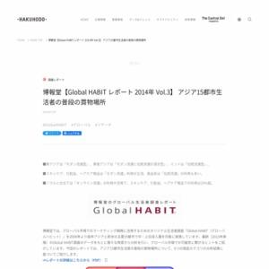 【Global HABIT レポート 2014年 Vol.3】 アジア15都市生活者の普段の買物場所