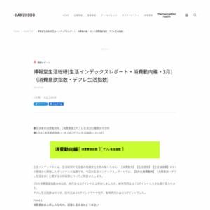 [生活インデックスレポート・消費動向編・2015年3月](消費意欲指数・デフレ生活指数)
