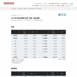 2015年5月度 四輪車 生産・販売・輸出実績