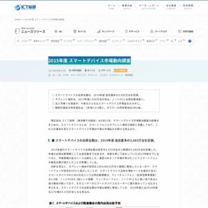 2015年度 スマートデバイス市場動向調査