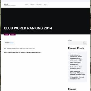 CLUB WORLD RANKING 2014