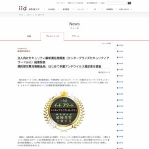 法人向けセキュリティ顧客満足度調査(エンタープライズセキュリティアワード2015)