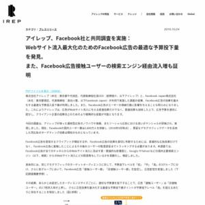 Webサイト流入最大化のためのFacebook広告の最適な予算投下量