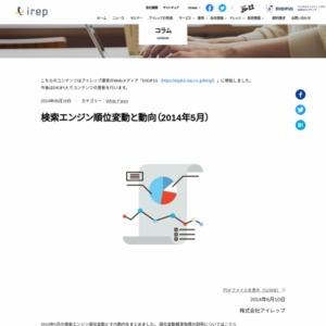 検索エンジン順位変動と動向(2014年5月)