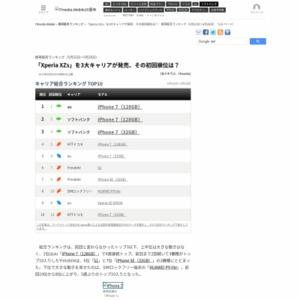 スマートフォン販売ランキング(2017年5月22日~5月28日)