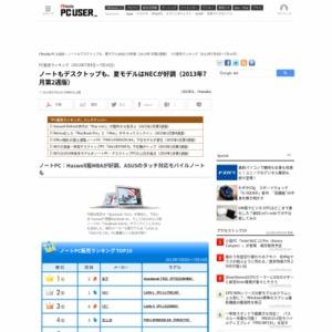 PC販売ランキング(2013年7月8日~7月14日)