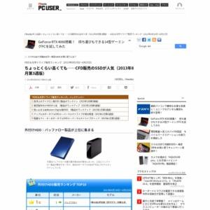 HDD&光学ドライブ販売ランキング(2013年8月19日~8月25日)