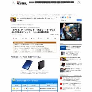 HDD&光学ドライブ販売ランキング(2013年8月26日~9月1日)