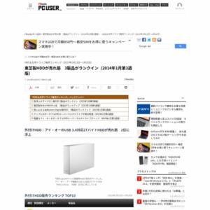 HDD&光学ドライブ販売ランキング(2013年1月13日~1月19日)