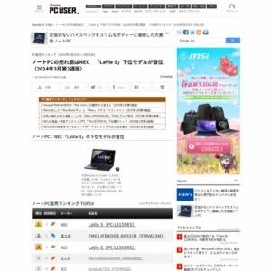 PC販売ランキング(2014年3月10日~3月16日)