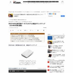 HDD&光学ドライブ販売ランキング(2014年8月11日~8月17日)
