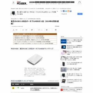 HDD&光学ドライブ販売ランキング(2014年8月18日~8月24日)