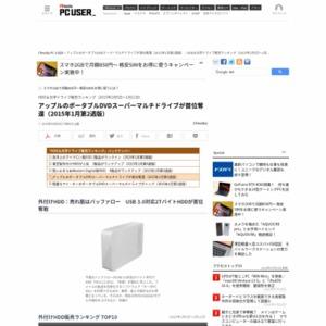 HDD&光学ドライブ販売ランキング(2015年1月5日~1月11日)