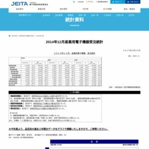 産業用電子機器受注統計(2014年12月分)