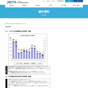 民生用電子機器国内出荷実績(2011年10月分)