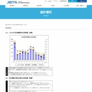 民生用電子機器国内出荷実績(2011年11月分)