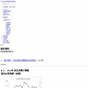 民生用電子機器国内出荷統計(2014年8月分)