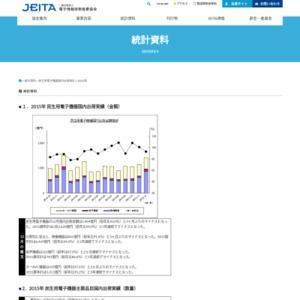 民生用電子機器国内出荷統計(2015年12月分)