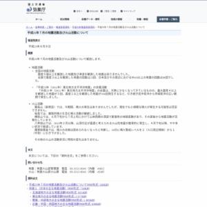 平成25年7月の地震活動及び火山活動について