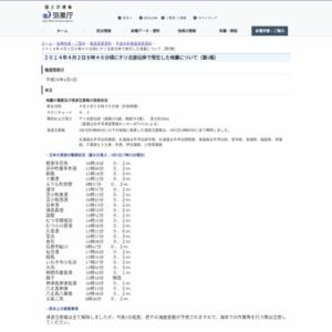 2014年4月2日8時46分頃にチリ北部沿岸で発生した地震について(第5報)