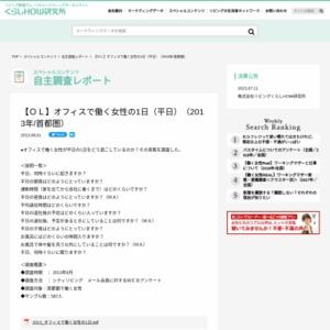 【OL】オフィスで働く女性の1日(平日)(2013年/首都圏)