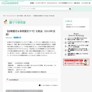 【幼稚園児&保育園児ママ】化粧品(2013年/全国)