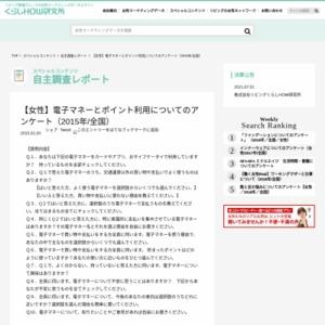 【女性】電子マネーとポイント利用についてのアンケート(2015年/全国)