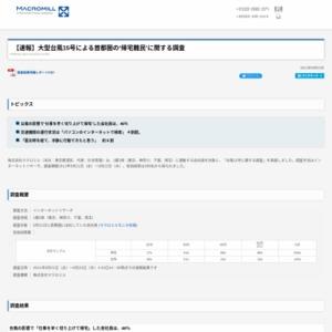 大型台風15号による首都圏の'帰宅難民'に関する調査