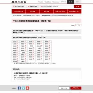 平成26年集落営農実態調査報告書