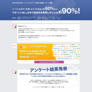 ソーシャルメディアに関するアンケート