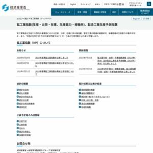 鉱工業生産・出荷・在庫指数速報(2013年5月分)