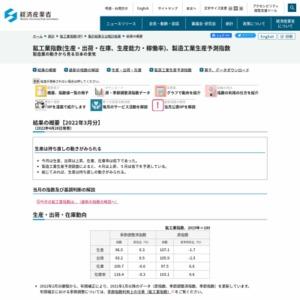 鉱工業生産・出荷・在庫指数速報 (平成27年5月分)