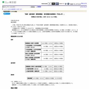 医師・歯科医師・薬剤師調査 東京都集計結果報告(平成26年)