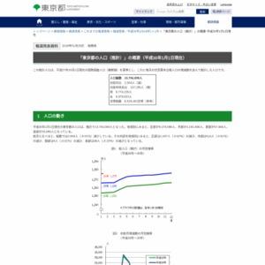 「東京都の人口(推計)」の概要(平成30年1月1日現在)