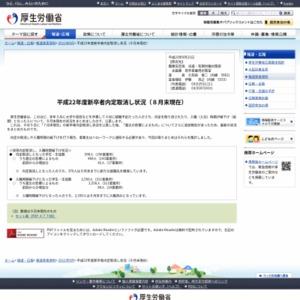 平成22年度新卒者内定取消し状況(8月末現在)