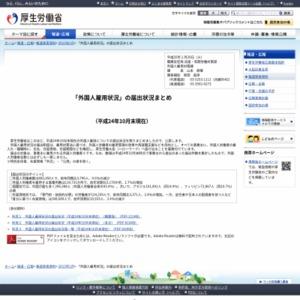 「外国人雇用状況」の届出状況まとめ(平成24年10月末現在)