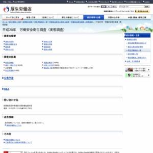平成28年 労働安全衛生調査(実態調査)