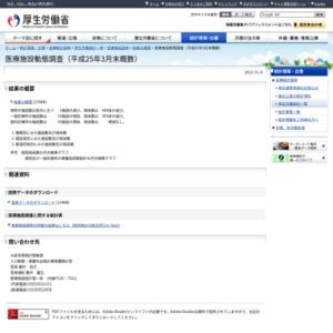 医療施設動態調査(平成25年3月末概数)