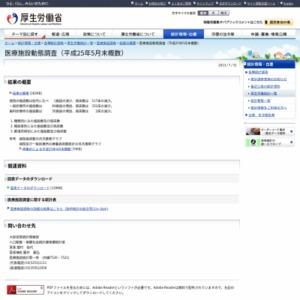 医療施設動態調査(平成25年5月末概数)