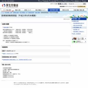 医療施設動態調査(平成25年8月末概数)