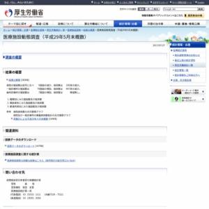 医療施設動態調査(平成29年5月末概数)
