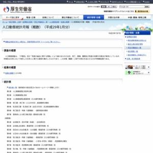 人口動態統計月報(概数)(平成29年1月分)