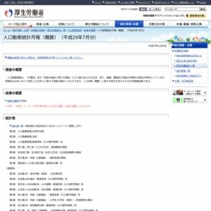 人口動態統計月報(概数)(平成29年7月分)