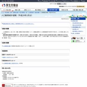 人口動態統計速報(平成29年1月分)