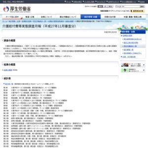 介護給付費等実態調査月報(平成27年11月審査分)