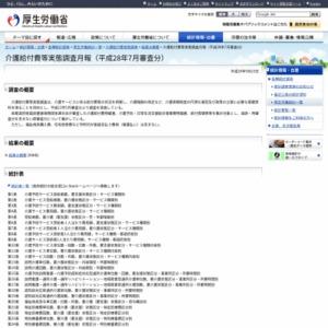 介護給付費等実態調査月報(平成28年7月審査分)