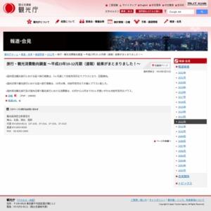 旅行・観光消費動向調査 ~平成23年10-12月期(速報)
