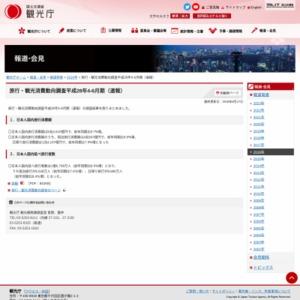 旅行・観光消費動向調査平成28年4-6月期(速報)