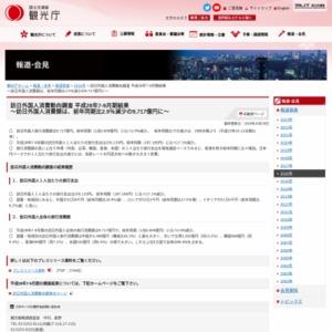 訪日外国人消費動向調査 平成28年7-9月期結果