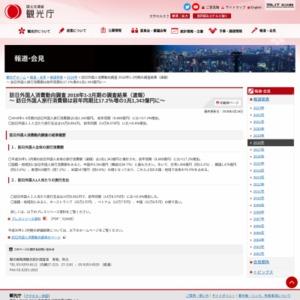 訪日外国人消費動向調査 2018年1-3月期の調査結果(速報)